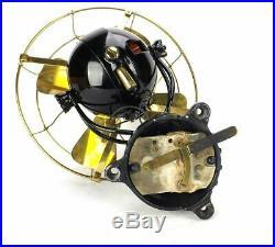 12Jandus Ball Motor DC Wall Mount Antique Brass Fan Electric Restored