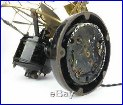 12 6 Blade Westinghouse Vane Electric Desk Fan Brass Antique Early