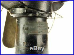 12 Antique Interior Conduit AEG Brass Desk Fan Cast Iron Circa 1898 Pre Behrens