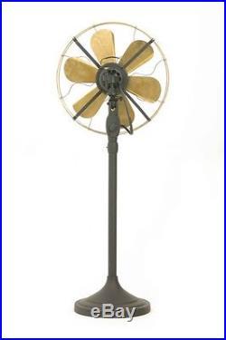 12 Blade Electric Floor Stand Fan Oscillating Vintage