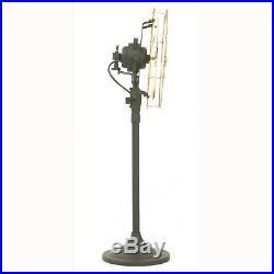 16 Brass Blade Standing Floor Electric Fan Oscillating Vintage Metal Antique