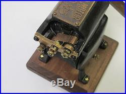 1891 Porter Antique Vintage Electric Edison Era Bipolar Fan & Motor