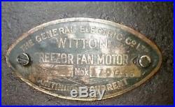 1900s GEC WITTON FREEZOR ANTIQUE BRASS CAST IRON DESK / WALL MOUNT / CEILING FAN