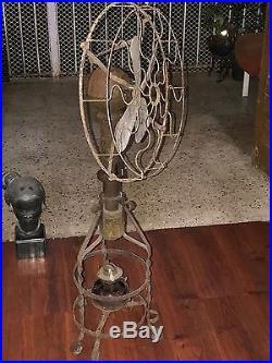 1900s LAKE BREEZE ANTIQUE STIRLING ENGINE MOTOR ALCOHOL GAS KEROSENE HOT AIR FAN