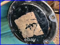 1901 Antique Hunter Fan Brass Blades & Brass Cage Cast Iron 3-Speed Fan