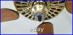 1912 Antique Vintage Hunter Tuerk Ceiling Fan-rebuilt W Remote Control & Video