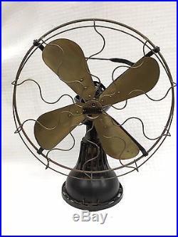 1918 Lake Breeze hot air sterling motor alcohol fan Antique Vintage