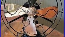 1920 Antique GE 9 Brass Blade 2 Speed General Electric Fan RESTORED