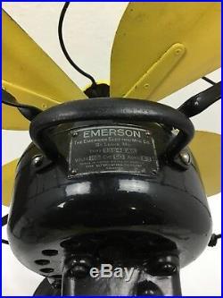 1920's Antique Emerson Table Fan Model # 73648 AK 16 Blade Partially Restored