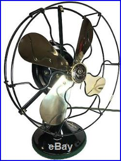 1924 Antique Brass Blade Ge Whiz Fan Restored To Perfection! Runs Very Smooth