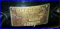 1930 Antique Emerson 12 Fan Model 75046 Brass Blades made only 1 year