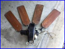 1930s 40s Emerson Electric Ceiling Fan W Blades from St. Louis, MO Deli Antique