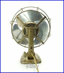 1931 AEG 10 German Art Deco Modern Electric Antique MCM Streamlined Desk Fan