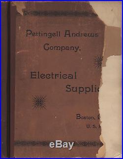 23 ELECTRIC SUPPLY CATALOGS Antique Industrial Lamp Meter Part Socket Fan Motor