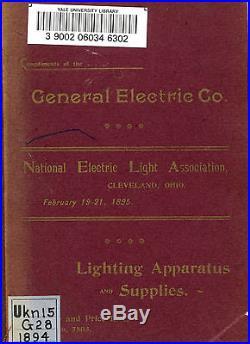 34 General Electric Ge Catalogs Antique Fan Dynamo Motor