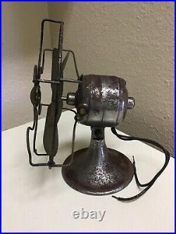 6 General Electric Fan Brass Blade Series G Vintage GE AC / DC Motor Antique