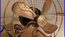 8 GE all brass stationary antique electric fan