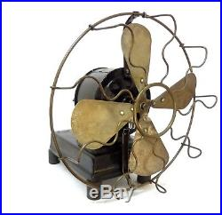 ANTIQUE 1900 GERMAN 1ST VARIABLE MULTI SPEED INDUSTRIAL FAN WithRHEOSTAT 2000 RPM