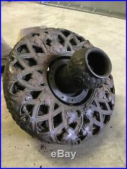 ANTIQUE 1900s GENERAL ELECTRIC52 Ornamental Ceiling Fan Original Cast Iron