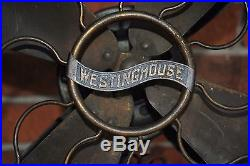 Antique Brass Blade & Cage Westinghouse Electric Fan Style 149575
