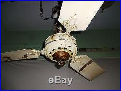 Antique Ceiling Fan Marelli Italy Vintage Electric Fan Old Collectibles Genuine#
