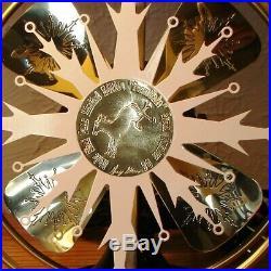 ANTIQUE ELECTRIC FAN Rare Unique Brass Blade Snowflake Edition S. N. # 05