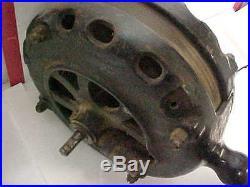 ANTIQUE PANCAKE MOTOR 1901 GENERAL ELECTRIC GE AB FORM C RIBBED CAST IRON BASE