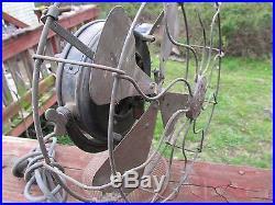 ANTIQUE PANCAKE MOTOR GE FAN TYPE U1 FORM E PAT. 1890 FARM FRESH WORKS