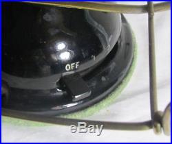 ANTIQUE ROBBINS & MYERS 16 BRASS BLADE ANTIQUE FAN Oscillating RUNNING COND