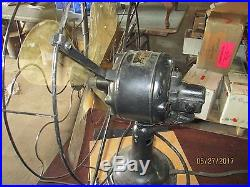 ANTIQUE ROBINS & MYERS ELECTRIC FAN With BRASS BLADES ALL 3 SPEEDS WORK