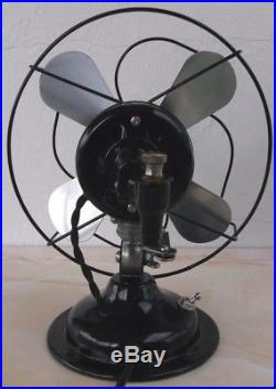 ANTIQUE/VINTAGE/DECO 30's ELECTRIC 8 OSCILLATING FAN-PROFESSIONALLY RESTORED