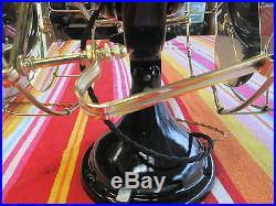 ANTIQUE VINTAGE GE FAN DOUBLE BLADE 12 BRASS BLADES & CAGES NOT A REPRO