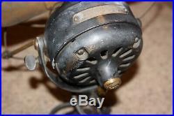 Antique 12 GE Fan BRASS BLADES & CAGE Yoke-Mount pancake motor small large