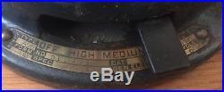 Antique 12 General Electric Fan Brass 3-Speed Oscillating Portable Fan Works