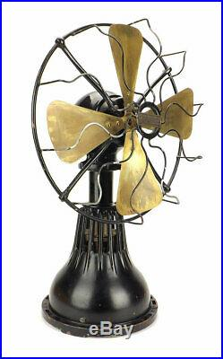 Antique 12 Lake Breeze Table Model Brass Fan Stirling Engine HotAir NonElectric