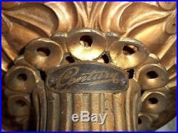 Antique 1900 Cast Iron Century Electric Co Ceiling Fan Very Fancy WORKS