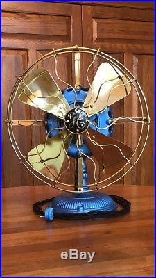 Antique 1901 GE Pancake Fan. Restored