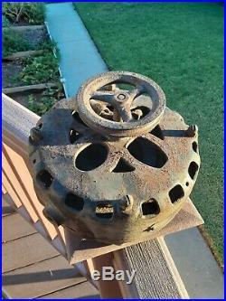 Antique 1901 GE Pancake Motor Fan Parts #273542 AC Brass Blade Electric Edison