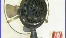 Antique 1901 General Electric GE Pancake Motor Brass Blade Fan