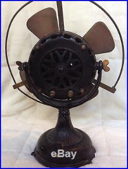 Antique 1901 General Electric Ge Pancake Motor Brass
