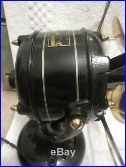 Antique 1905 Westinghouse 12 Brass Blade & Cage Tank Motor Electric Desk Fan