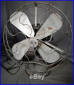 Antique 1910 Electric Motor Brass Blade Cage fan Fort Wayne Electric Works
