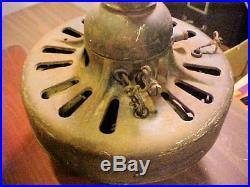 Antique 1910 GE Direct Current Ceiling Fan Cast Iron 220 Volt Cat 34008 Project