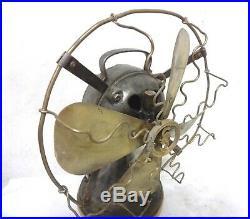 Antique 1910 Very Rare Siemens Miniature Cast Iron Desk Electric Fan Working