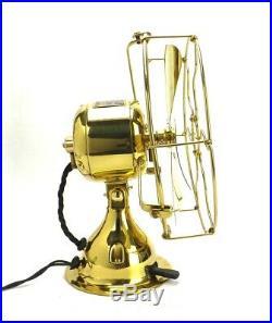 Antique 1911 Emerson Trojan 8 All Brass Electrical Desk Fan