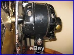 Antique 1915 Century 6 Blade 12 Brass Fan