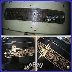 Antique 1916 GE 12 Brass Blade Stationary General Electric Fan RESTORED