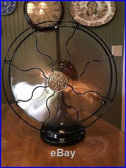 Antique 1916 GE 3 Speed Stationary 12 General Electric Fan