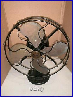 Antique 1917 Emerson 12 Brass Blade Fan #24646