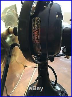 Antique 1918 GE 3 Speed 16 Brass Bade And Cage General Electric Oscillator Fan